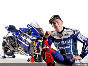 Jorge Lorenzo with YZR M1