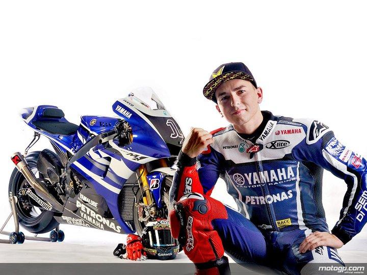 Jorge Lorenzo with YZR M1